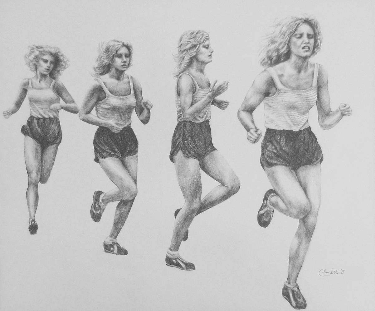 Drawing The Runner by Claudette Webb