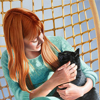 Oil painting Lisa and Bo by Claudette Webb