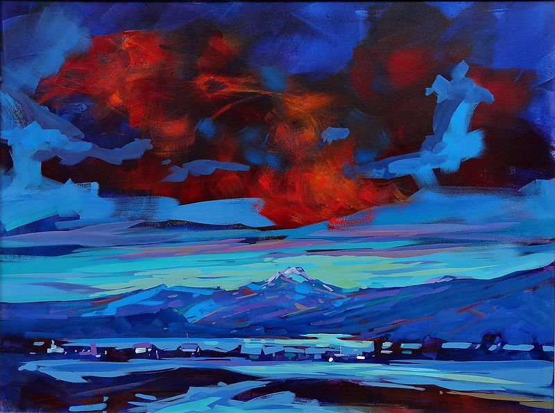 Estuary View 30x40 Acrylic 2012 by Brian  Buckrell