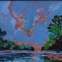 Wetland Evening II  Oil 9x12 2013 by Brian  Buckrell