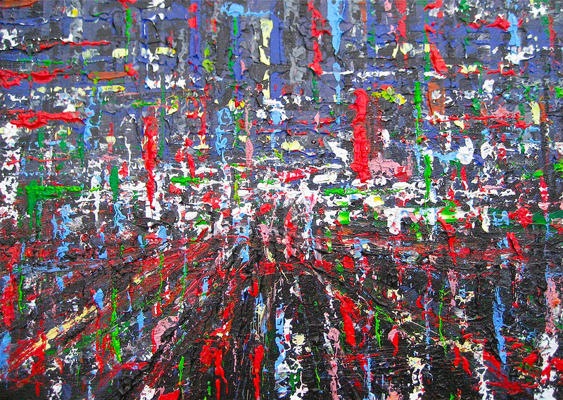 Acrylic painting Urban Rhythms No. 15  by David Tycho