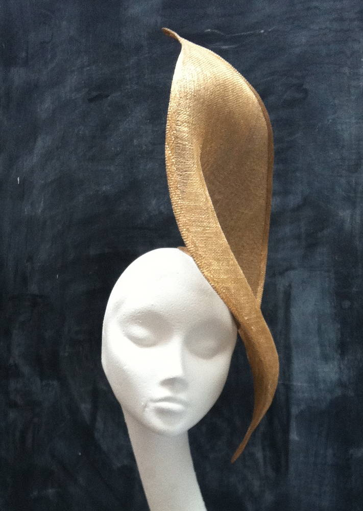 Gold leaf hat by Fiona Menzies