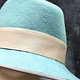 Duck egg blue trilby by Fiona Menzies
