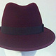 Burgundy trilby by Fiona Menzies