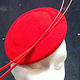 Poppy red 'planet' percher by Fiona Menzies
