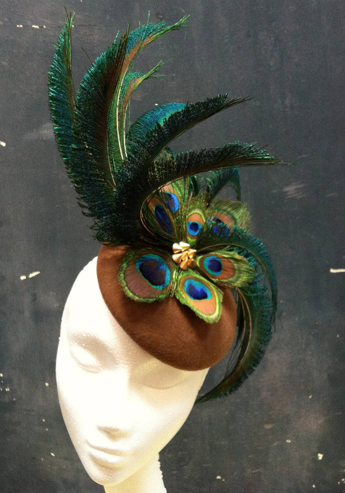 Peacock percher by Fiona Menzies
