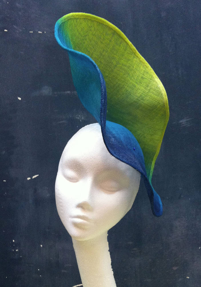 Dip dyed statement hat by Fiona Menzies