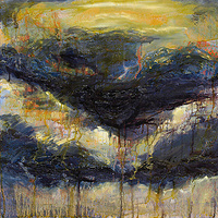 Mixed-media artwork Violet Clouds, 2012 by Sandra  Martin