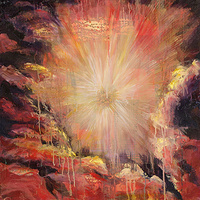 Mixed-media artwork Sunburst, 2013 by Sandra  Martin