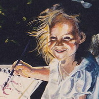 Acrylic painting Young Artist by Judith  Elsasser