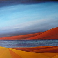 Oil painting Red Mountain  by Wayne Pitchko