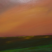 Acrylic painting Distant Hills 2.....SOLD by Wayne Pitchko