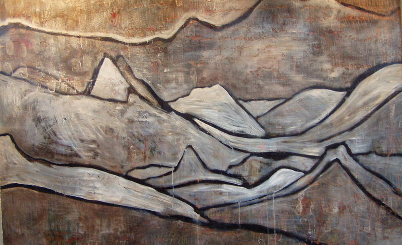 Acrylic painting Purcell Wilderness: Three Ridgelines by Tamara Rusnak