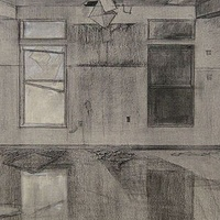 Drawing ABANDONED KITCHEN, BADGER CREEK by Amie t. Rangel