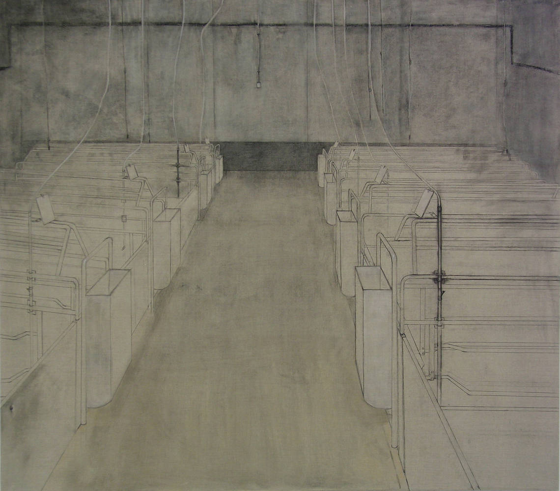 Drawing OBSERVATION ROOM I by Amie t. Rangel
