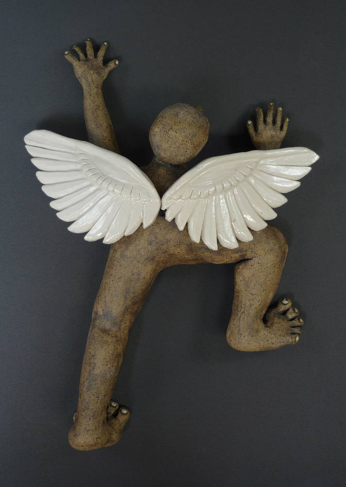Climber with Wings by Leanne Schnepp