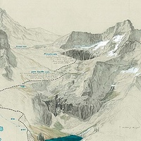Drawing Kaweah Headwaters - Valhalla by Amie Rangel