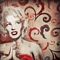 Marilyn In Red by Carly Jaye Smith
