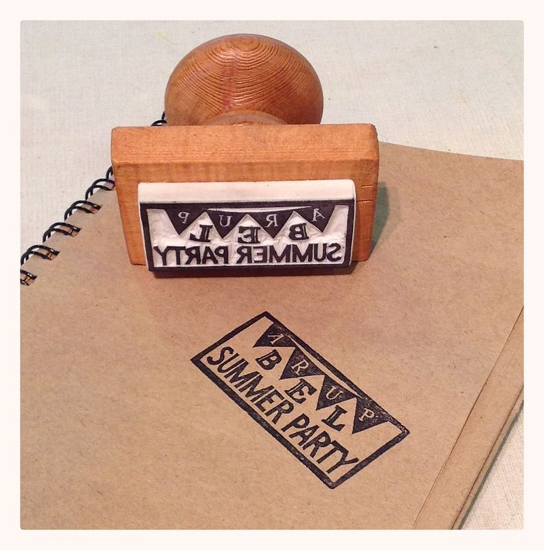 ARUP rubber stamp by ROSE WILLIAMS