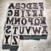 Rubber Stamp Alphabet - The Stamps by ROSE WILLIAMS