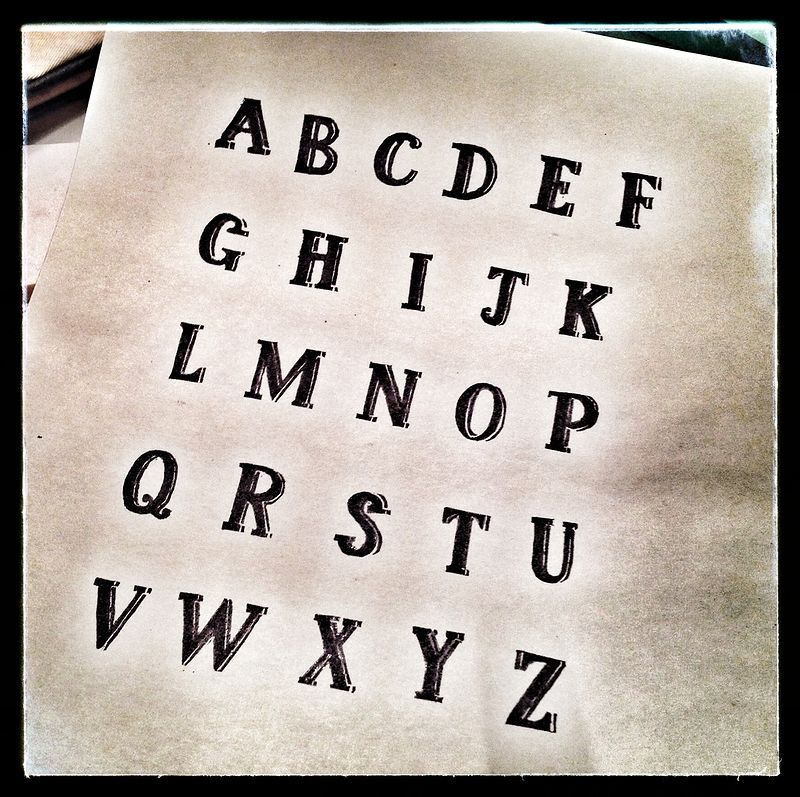 Rubber Stamp Alphabet by ROSE WILLIAMS