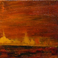 Oil painting BURNING PRAIRIE by Wayne Pitchko