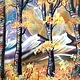 Acrylic painting Abstract Aspens XVIII  by Isaac Carpenter
