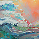 Mixed-media artwork Seascape by Marty Husted