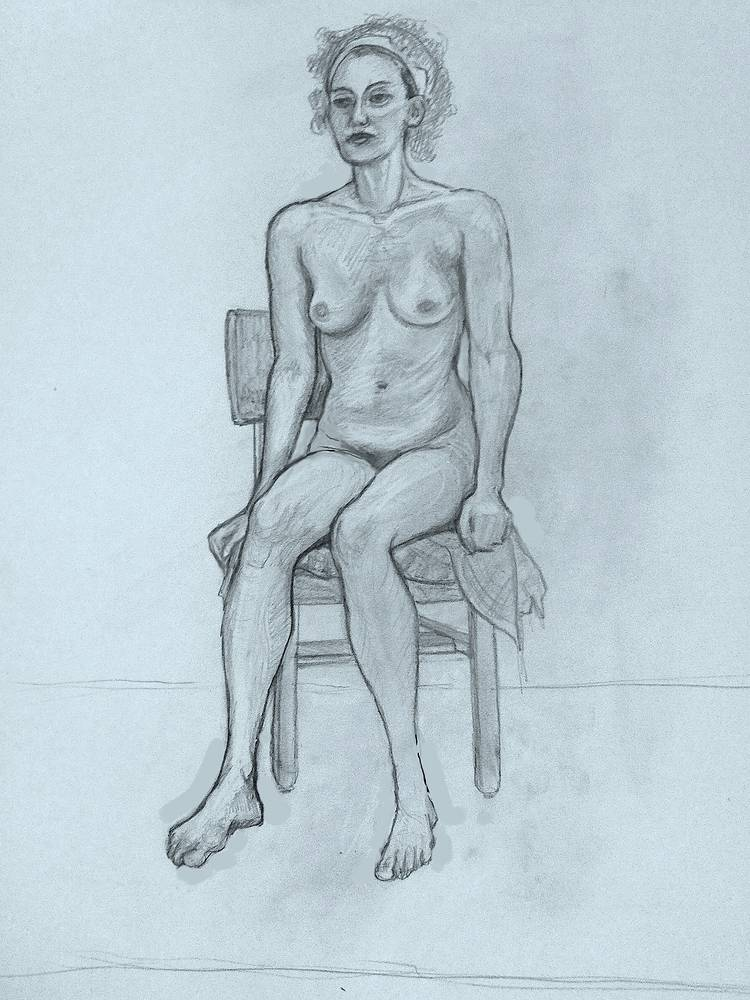 Drawing Seated Model by Anastasia O'melveny