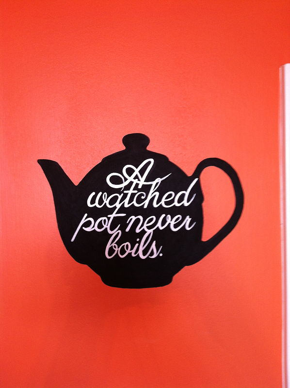 "Painting Tea Pot - ""A watched pot never boils.""  by Cindy Scaife"