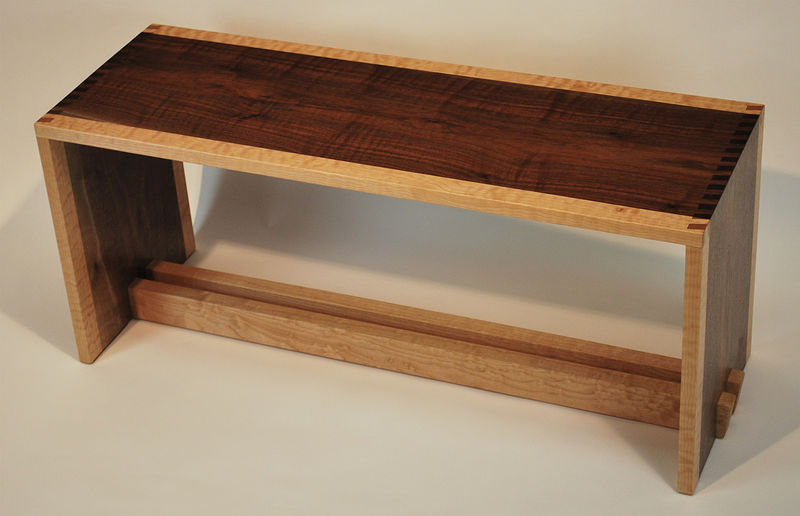 Oil painting Angle Fingerjoint Bench by Enrique Morales
