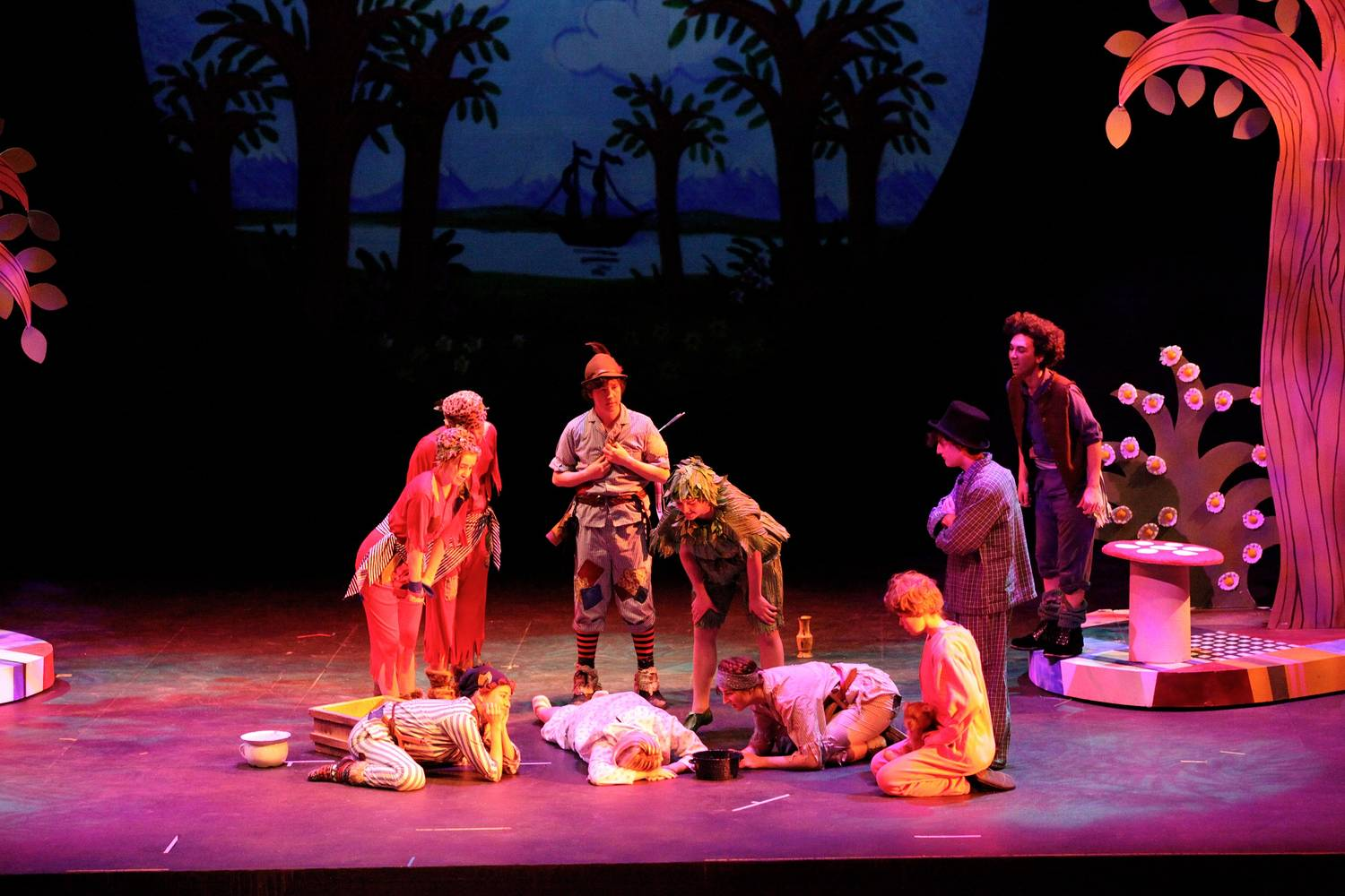 Wendy arrives in Neverland & COSTUME DESIGN - Peter Pan - Red Deer College 2012 - Angela Dale ...