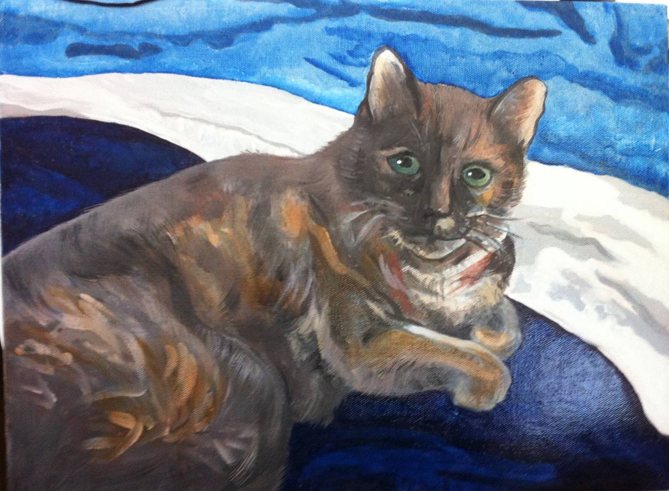 Oil painting Gracie by Anastasia O'melveny