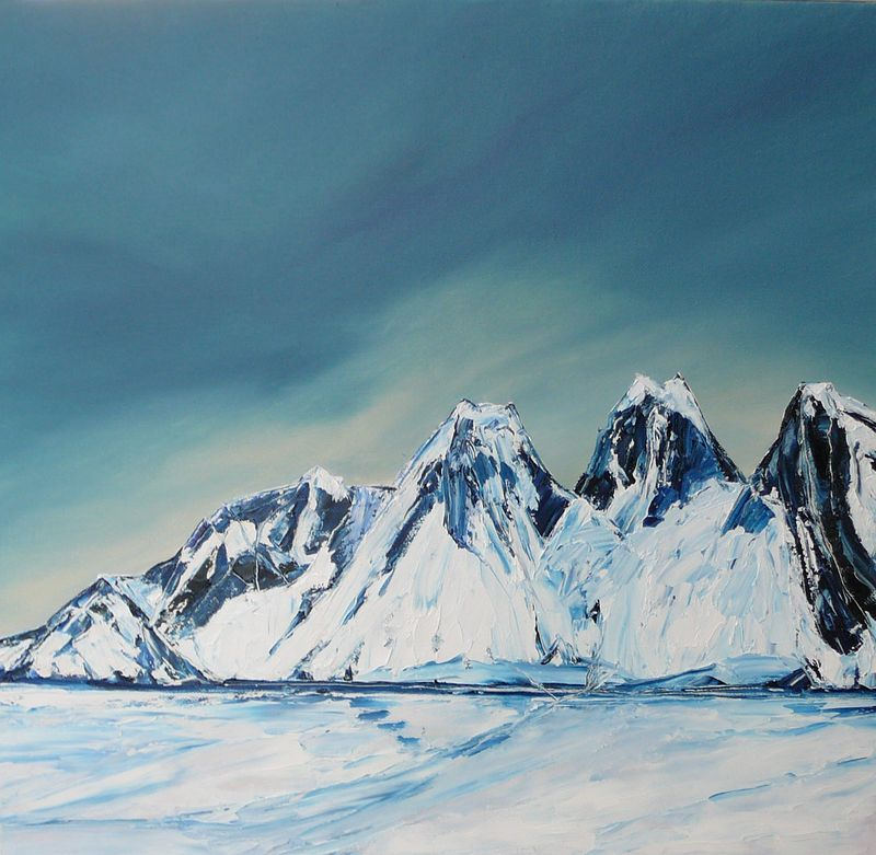 Oil painting Arctic Mountains by Wayne Pitchko