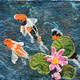 Three Swimming Koi by Valerie Johnson