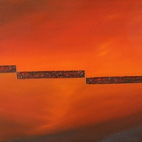 Oil painting Split Horizon #1 by Wayne Pitchko