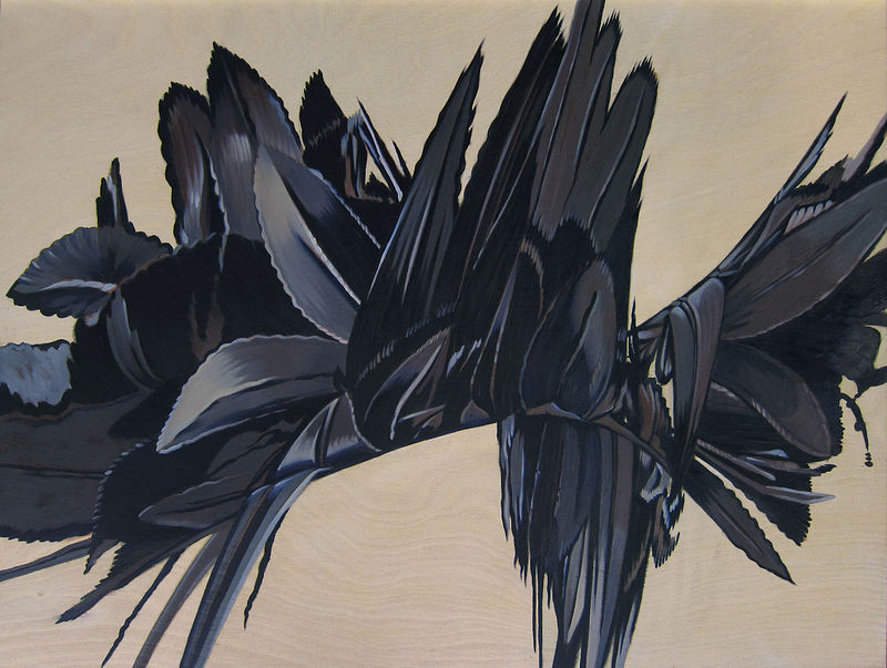 Oil painting Black Hybrid I by Robert Porazinski