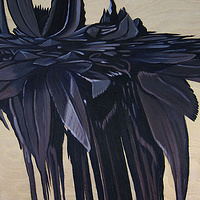 Oil painting Black Hybrid II by Robert Porazinski