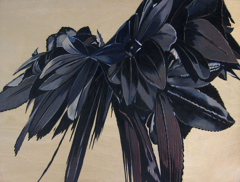 Oil painting Black Hybrid IV by Robert Porazinski