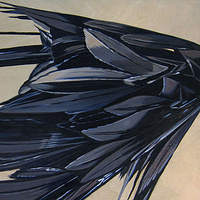 Oil painting Black Hybrid III by Robert Porazinski