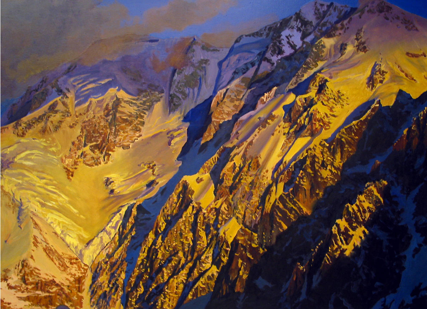 Oil painting Hindu Kush, Tirik Mir, 2001 by David  Maxim