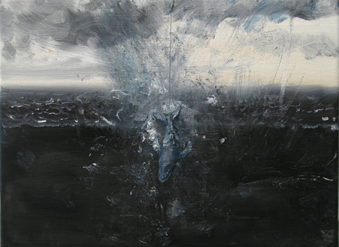 Oil painting  The Dive, 2010  by David  Maxim
