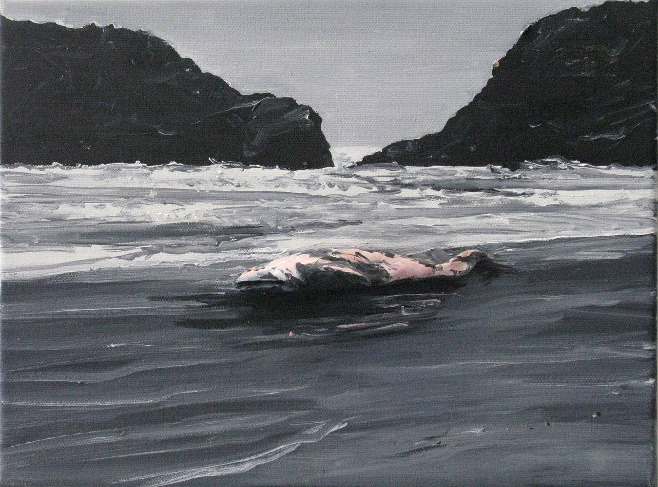 Oil painting Beached Whale, 2010  by David  Maxim