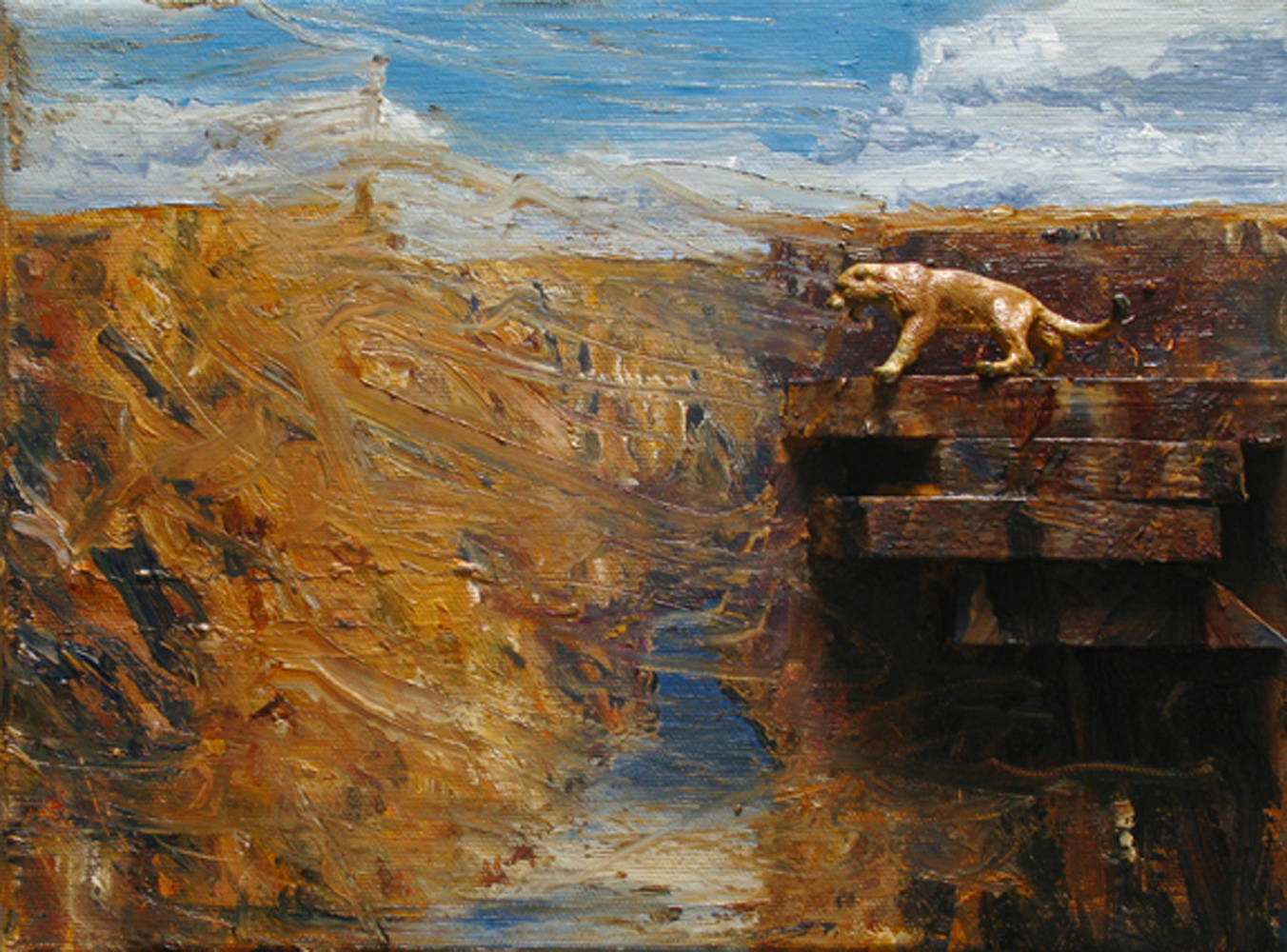 Oil painting Cougar, 2010 by David  Maxim