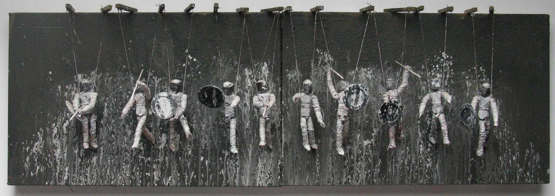 Mixed-media artwork Ten Fight Time, 1999 by David  Maxim