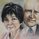Acrylic painting Mr. and Mrs. Charles Belair by Judith  Elsasser