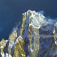 Oil painting Karakoram: Hachinder Kish, 2002 by David  Maxim