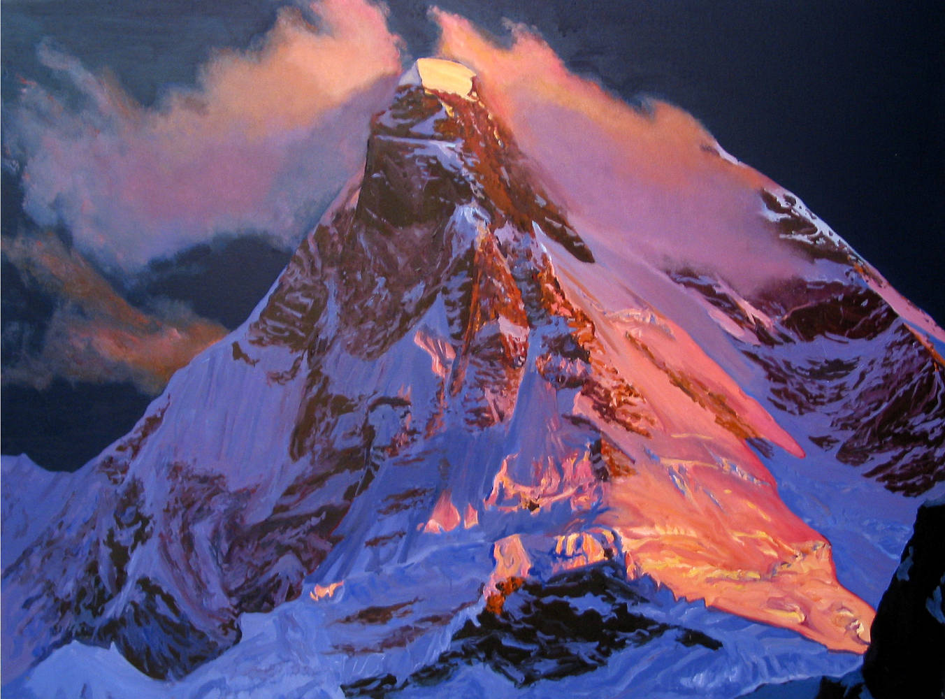 Oil painting Himalaya, 2002 by David  Maxim