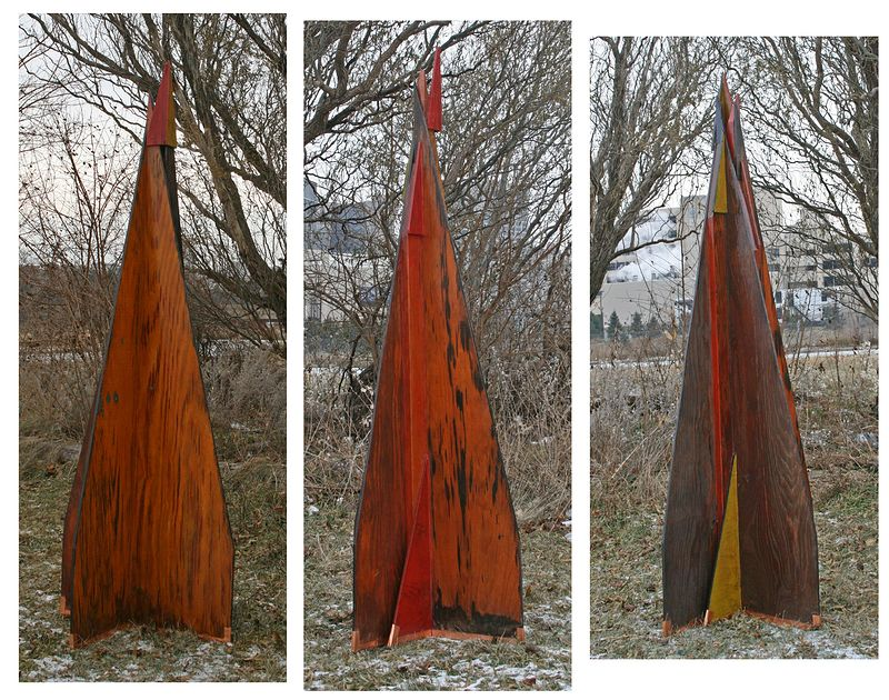 Oil painting Variation on an Obelisk by Gary Eleinko