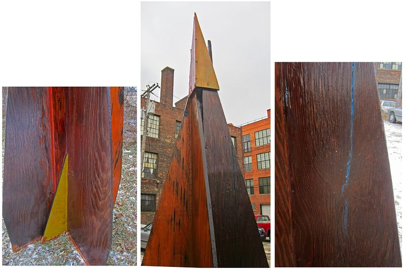 Oil painting Variation on an Obelisk    detail by Gary Eleinko